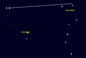 The Big Dipper Pointer Stars, Jim Johnson, December 27, 2014.