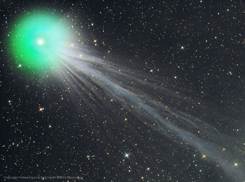 The Complex Ion Tail of Comet Lovejoy by V. Popov & E. Ivanov  from Astronomy Photo of the Day, 01/21/2015 (http://apod.nasa.gov)